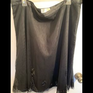 Old Navy Black Lace Embroidered Skirt